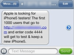 Iphone 5 Tester Sms Transcript Scam Hits Cell Phone User Nigerian